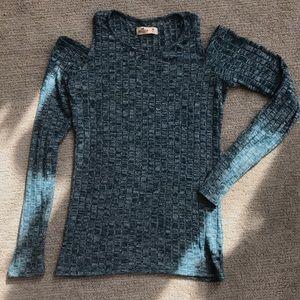 Blue/Green Hollister Sweater